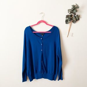 Lane Bryant Sweaters - Lane Bryant Blue Button Up Cardigan Size 18/20
